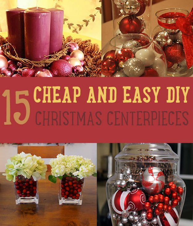 Budget Christmas Decorating: Christmas Centerpiece Ideas