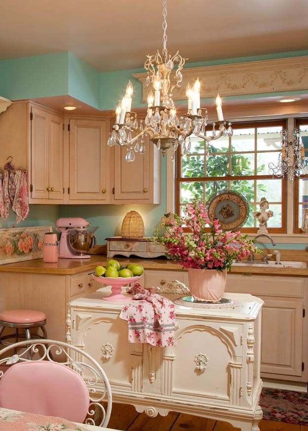 20 diy shabby chic decor ideas diy ready for Kitchen decor inspiration