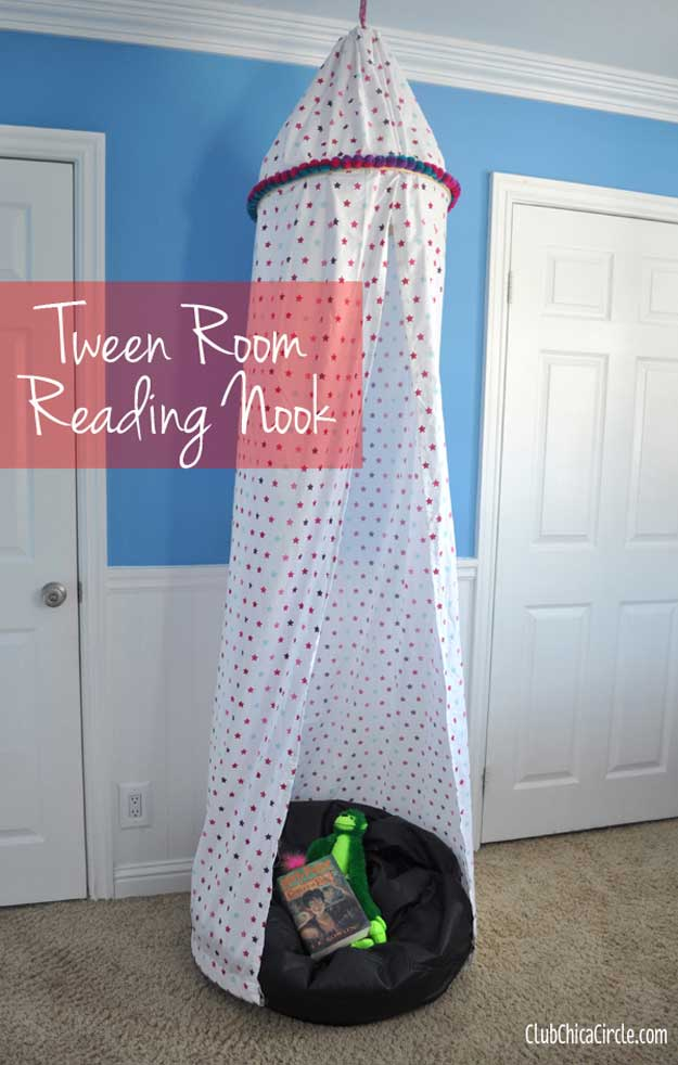 diy reading nook easy teen room decor ideas for girls